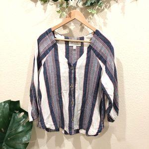 Antro. Cloth & Stone striped top Size M